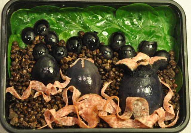 Alien eggs bento