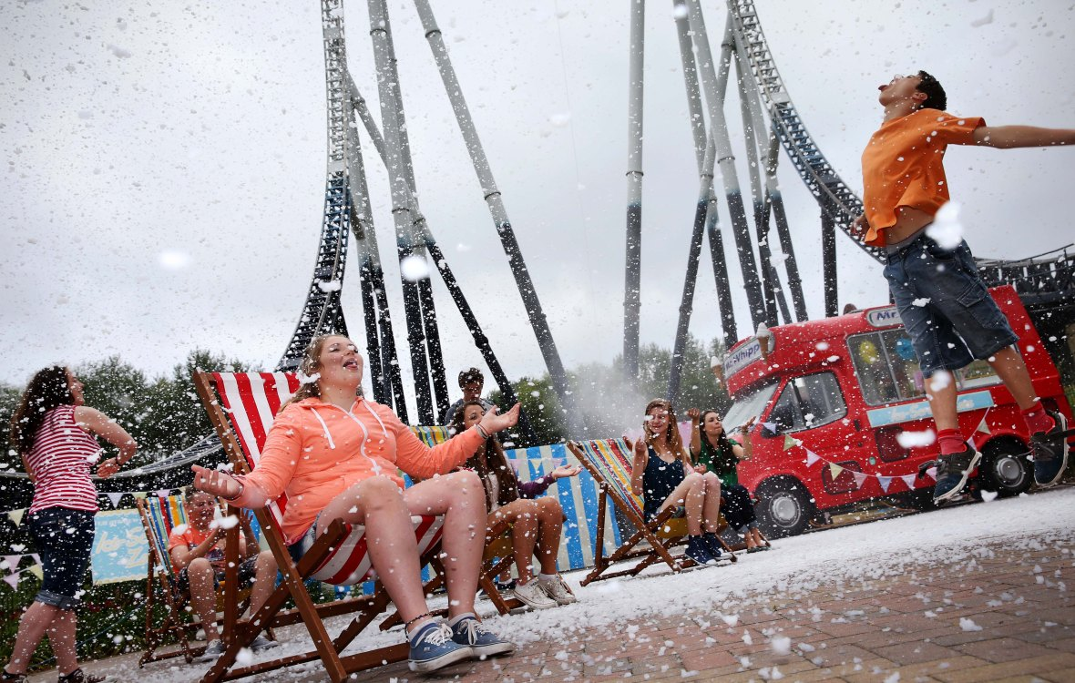 Weird Weather outbreak at THORPE PARK