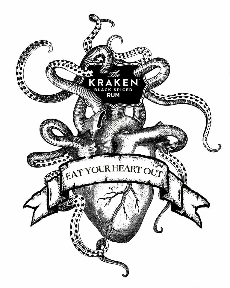 Think ink with macabre cocktail competition the kraken - Kraken rum pictures ...