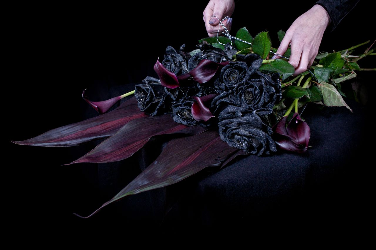 Think ink florist selling only black roses emma thomas for How to make black roses