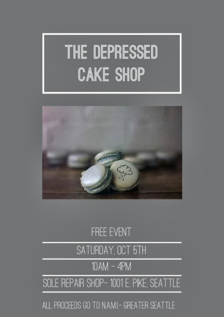 Depressed Cake Shop Seattle - Event Leaflet 1