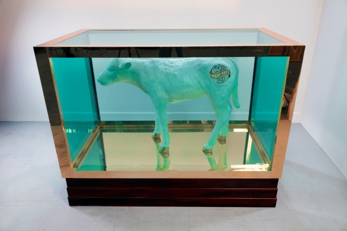 Damien Hirst's legendary artwork 'false idol' recreated using 480kg of saturated fat for World Meat Free Day-2